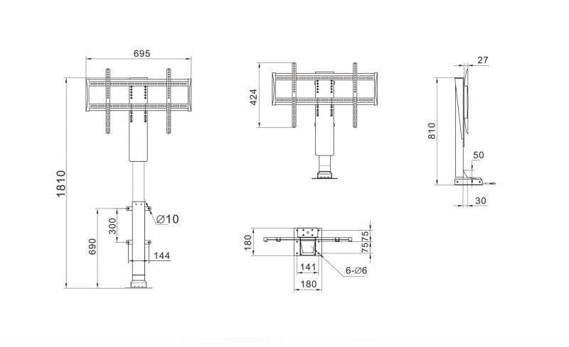 Dimensiuni birou reglabil ELEVATIX Pro